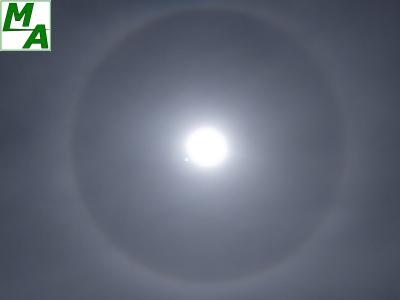 Woensdag was een kring om de zon zichtbaar