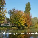 Herfst zonnig en warm van start