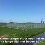 Maximumtemperatuur voor het eerst na lange tijd niet boven 10 °C