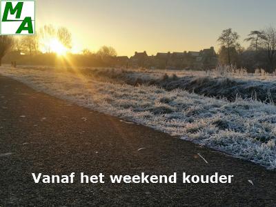 Vanaf het weekend kouder