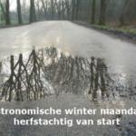 Astronomische winter maandag herfstachtig van start