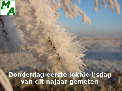 Donderdag eerste lokale ijsdag van dit najaar gemeten