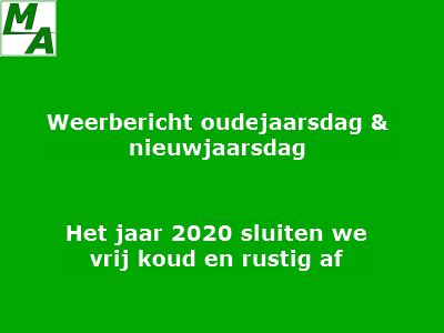 Het jaar 2020 sluiten we vrij koud en rustig af