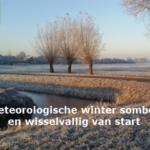Meteorologische winter somber en wisselvallig van start