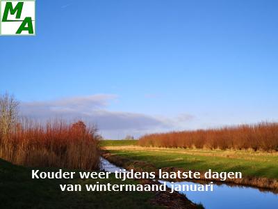 Kouder weer tijdens laatste dagen van wintermaand januari