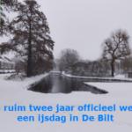 Na ruim twee jaar officieel weer een ijsdag in De Bilt