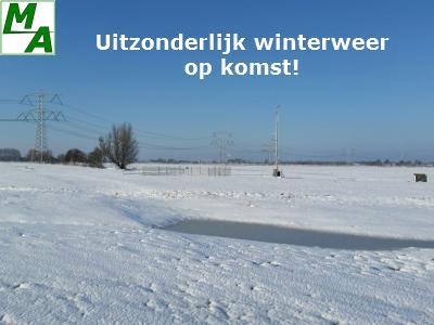 Uitzonderlijk winterweer op komst!