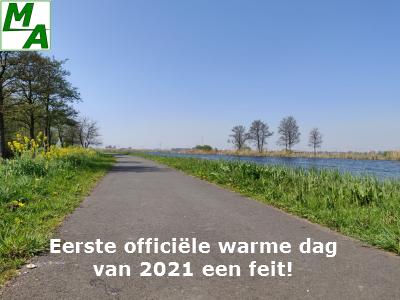 Eerste officiële warme dag van 2021 een feit!