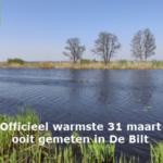 Officieel warmste 31 maart ooit gemeten in De Bilt