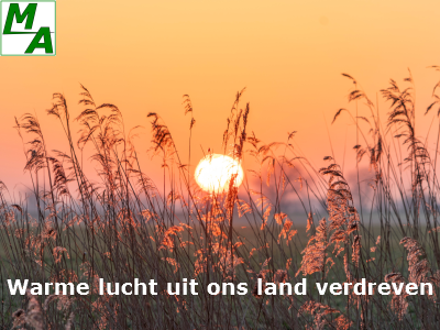 Warme lucht uit ons land verdreven